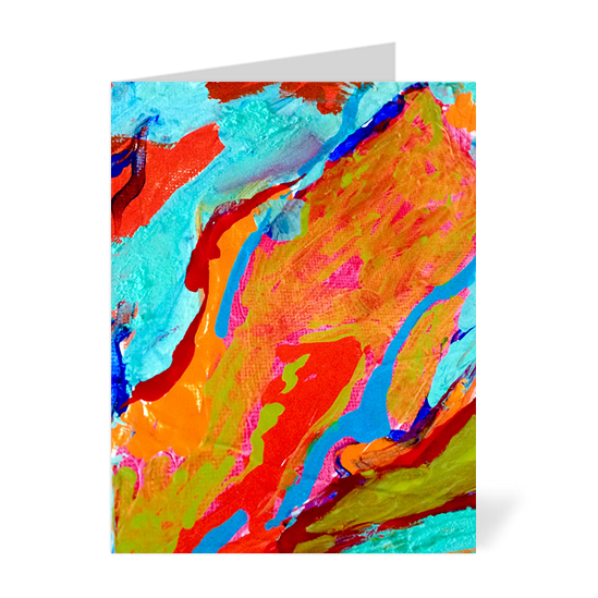Marbled Paint Note Cards