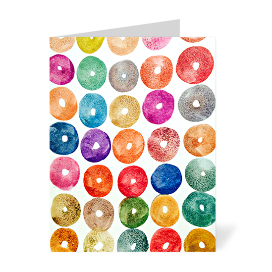 Mini Donuts Note Cards
