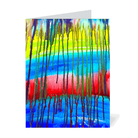 Colorful Icicle Abstract Note Cards