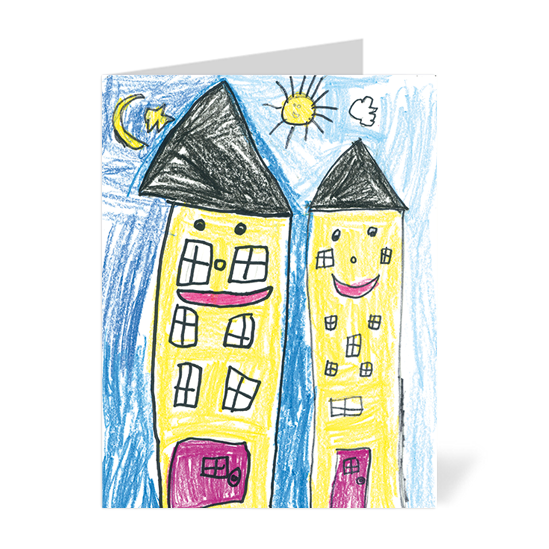 Happy Houses Note Cards