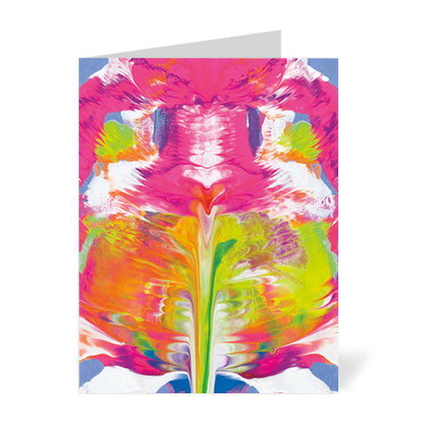 Pink Abstract Note Cards