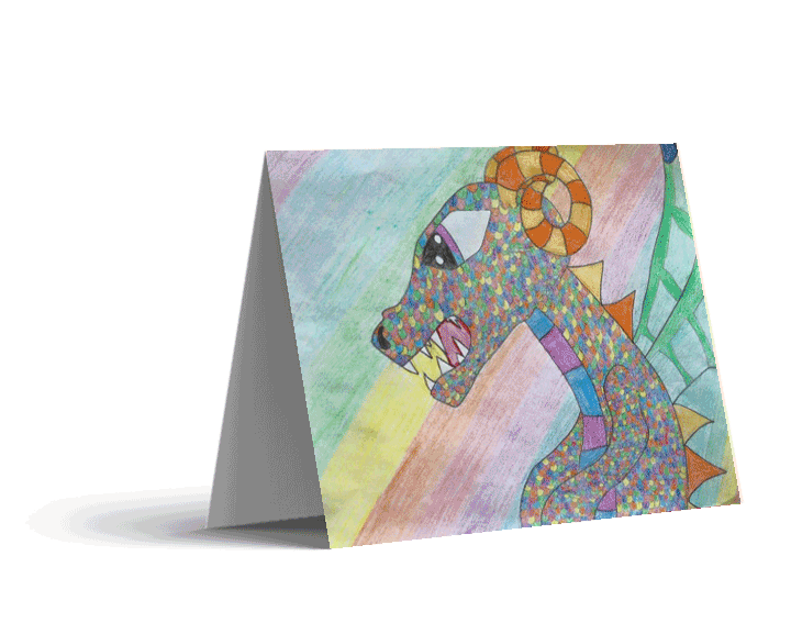 Colorful Dragon Note Cards