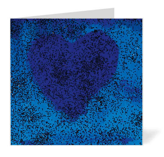 Blue Heart Note Cards