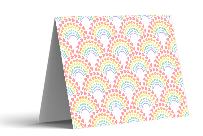Rainbow Love Note Cards