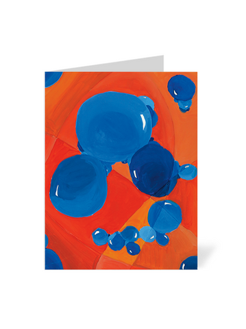 Orange-Blue Bubble Note Cards