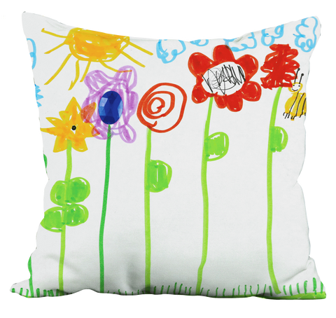 Bumble Bee Flowers Pillow