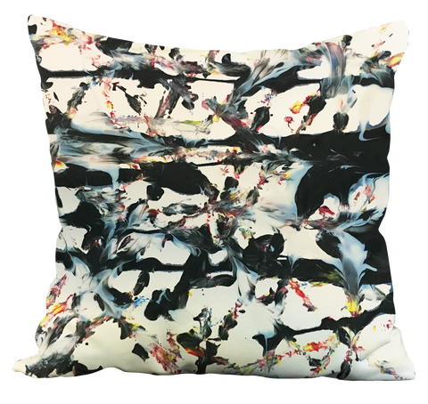 Abstract Tracks Pillow
