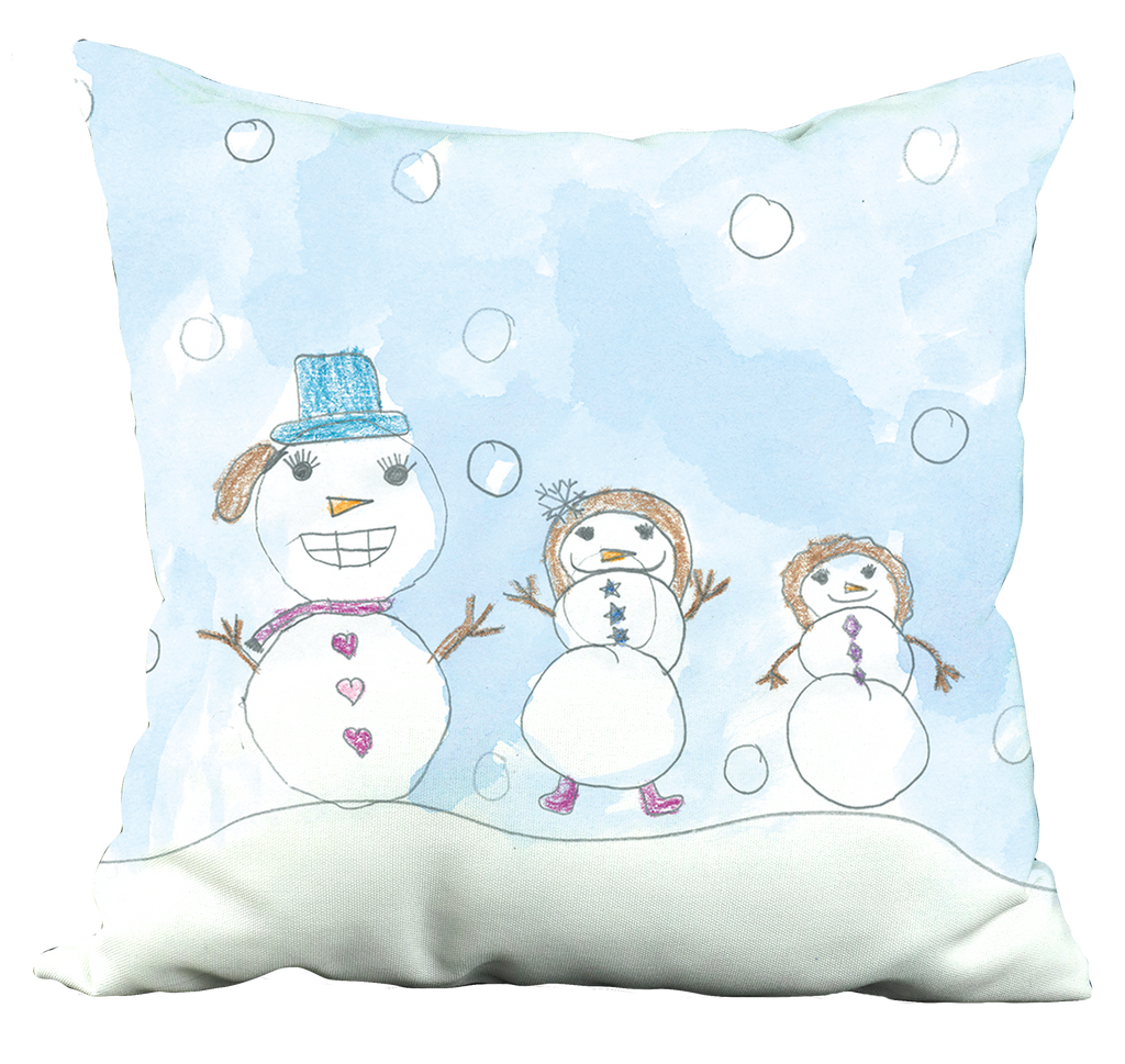 Snowman Family Pillow