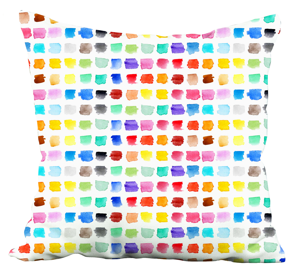 Watercolour Palette Throw Pillow
