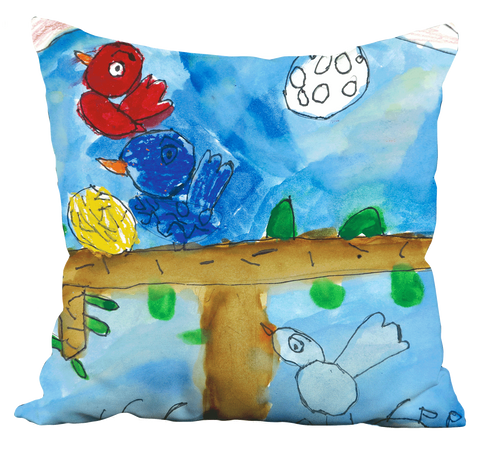 Colorful Birds Pillow
