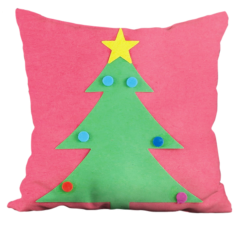 Christmas Tree with Star Pillow