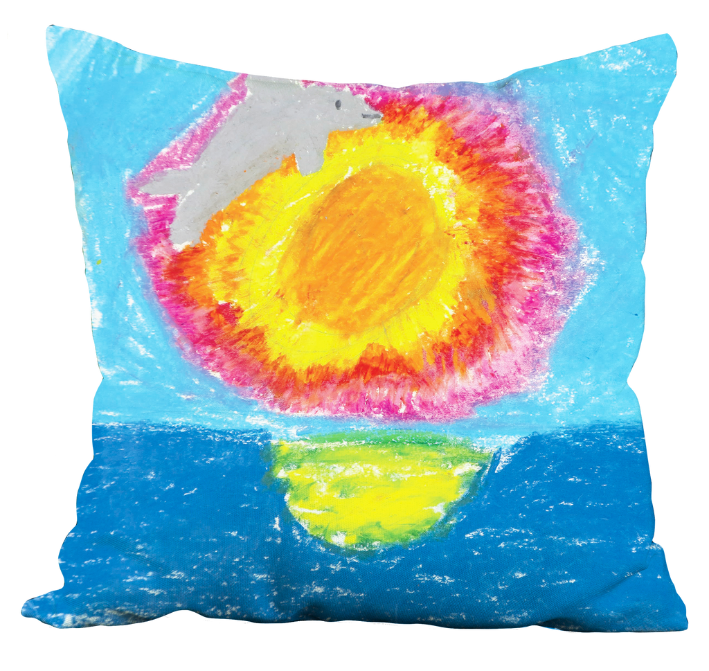 Dolphin at Sunset Pillow