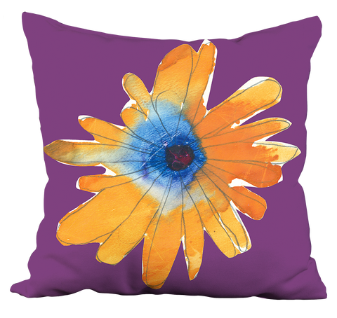 Orange Flower Pillow