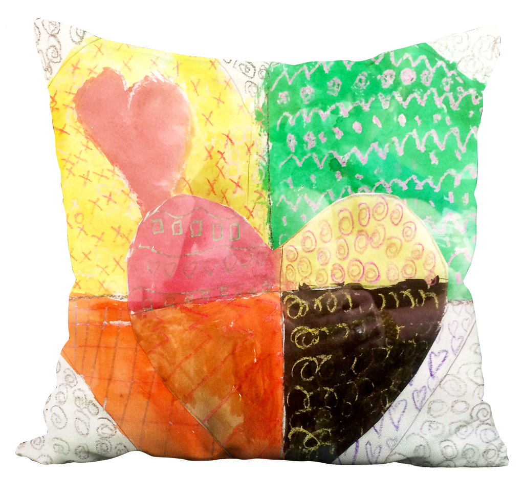 Hearts 1 Pillow