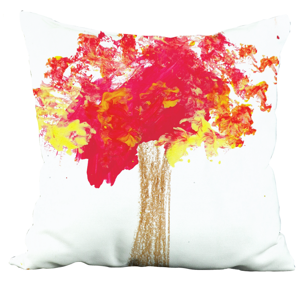 Red Tree Pillow