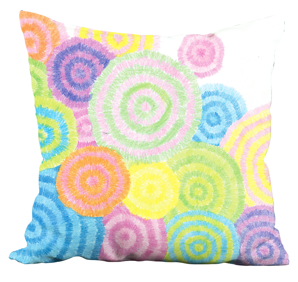 Colorful Circles Pillow