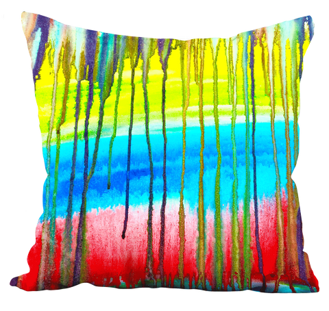 Colorful Icicle Abstract Pillow