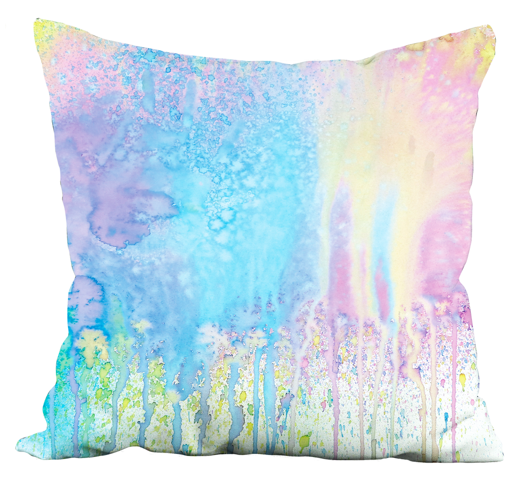 Pastel Splatter Paint Pillow