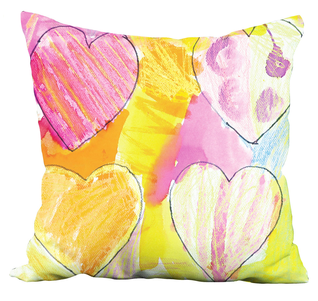 Bright Hearts Pillow
