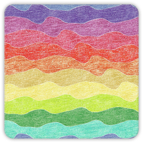 Crayon Waves Coasters