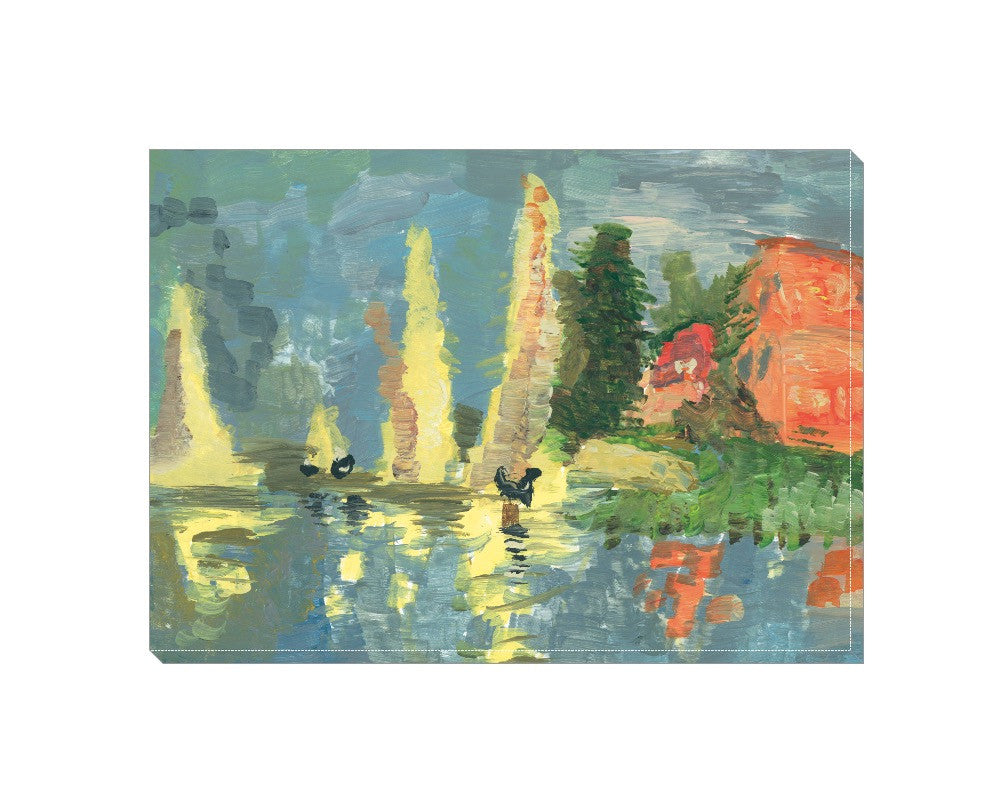 Lake Reflections Wrapped Canvas