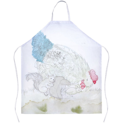 Squirrel & Chickens Apron