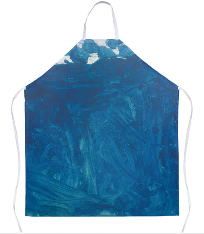 Blue Abstract Apron