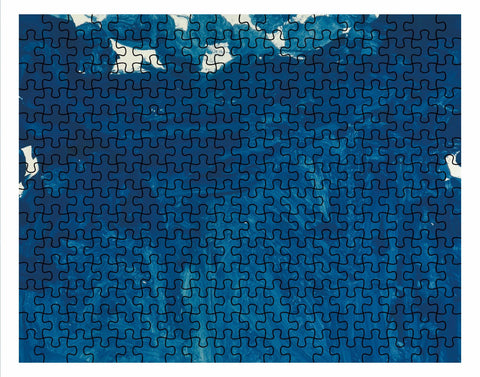 Blue Abstract Jigsaw Puzzle