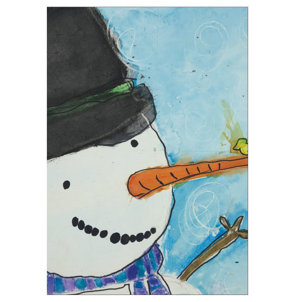 Snowman With Bird Note Cards