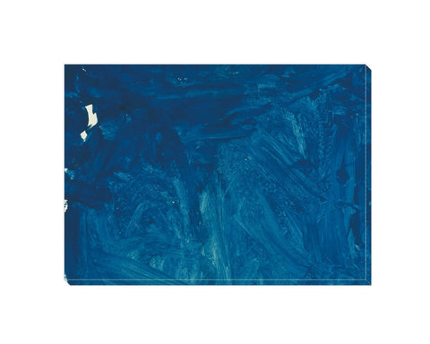 Blue Abstract Wrapped Canvas