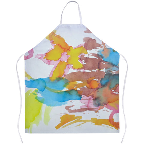 Bright Watercolor Flowers Apron