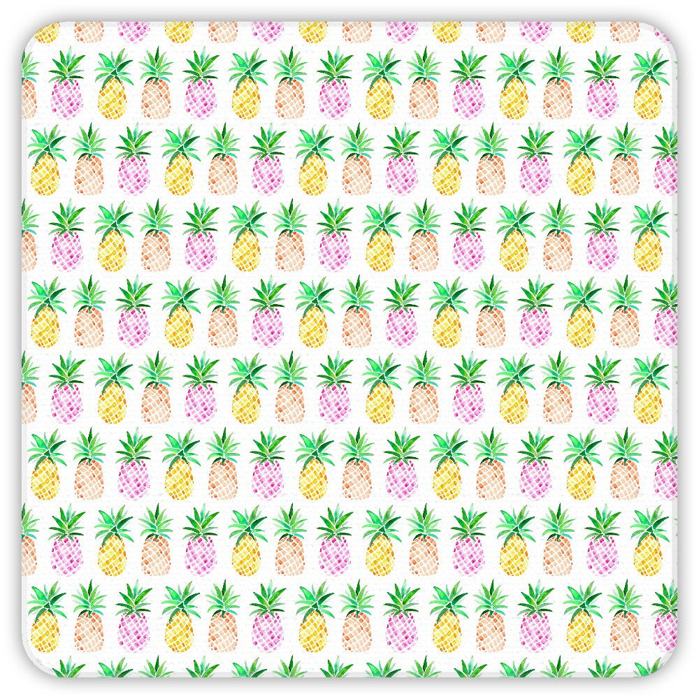 Watercolour Pineapple Coasters