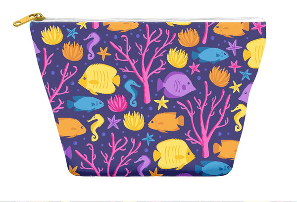 Ocean Coral Accessory Pouch