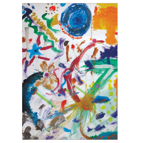 Bright Abstract Note Cards