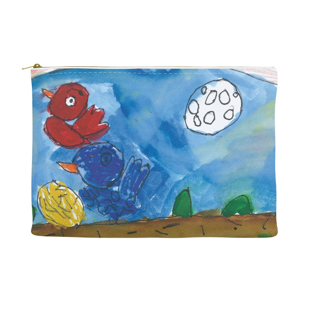 Colorful Birds Accessory Pouch
