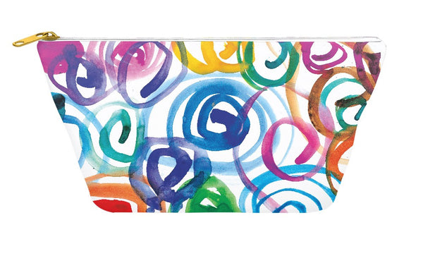 Watercolor Swirls Accessory Pouch