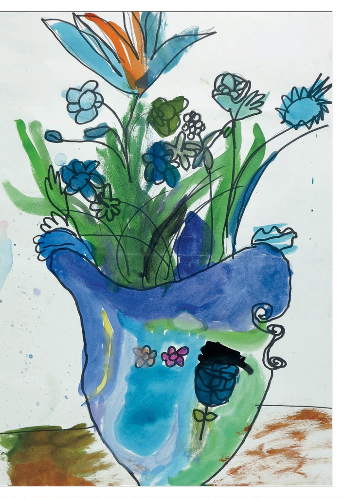 Blue Vase & Flowers Note Cards