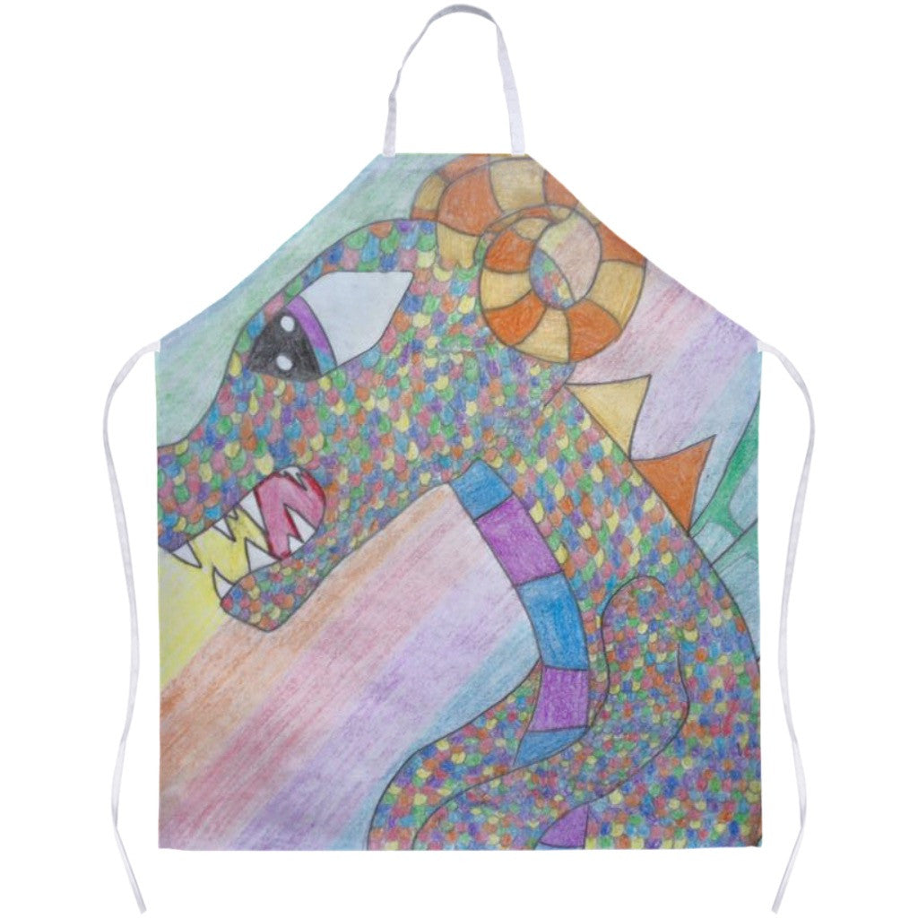 Colorful Dragon Apron
