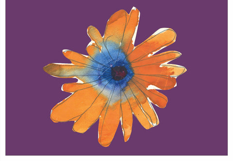 Orange Flower Note Cards
