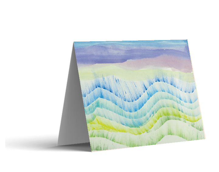 Beach Waves Note Cards