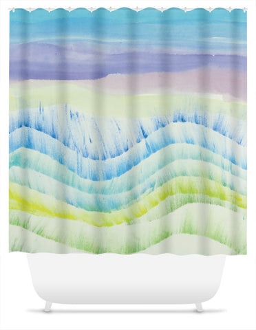 Beach Waves Shower Curtain