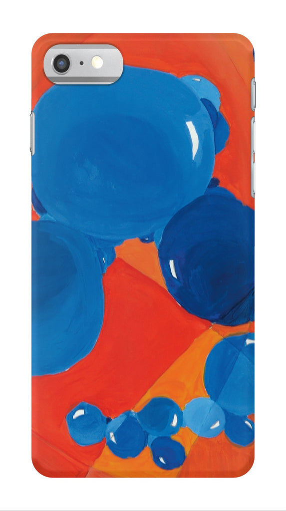 Orange & Blue Bubbles Phone Case