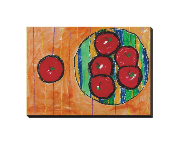 Bowl of Apples Wrapped Canvas
