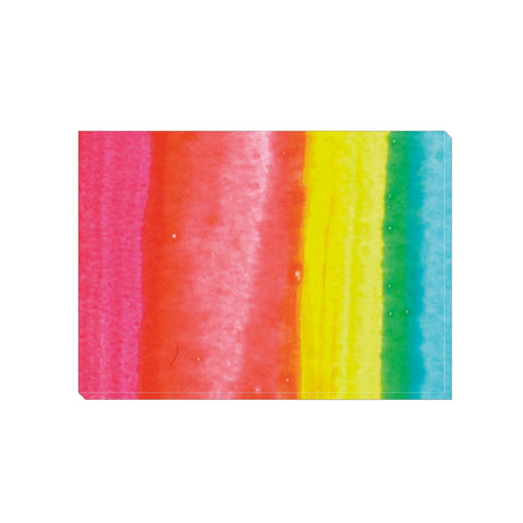 Rainbow Stripes Wrapped Canvas