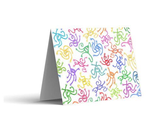 Crayon Monsters Note Cards