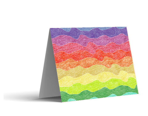 Crayon Waves Note Cards
