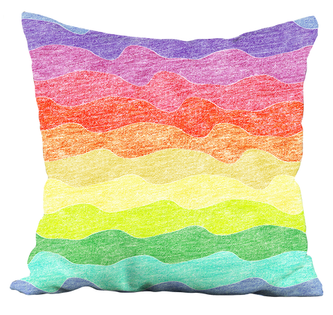 Crayon Waves Pillow
