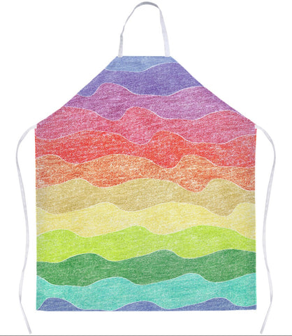 Crayon Waves Apron
