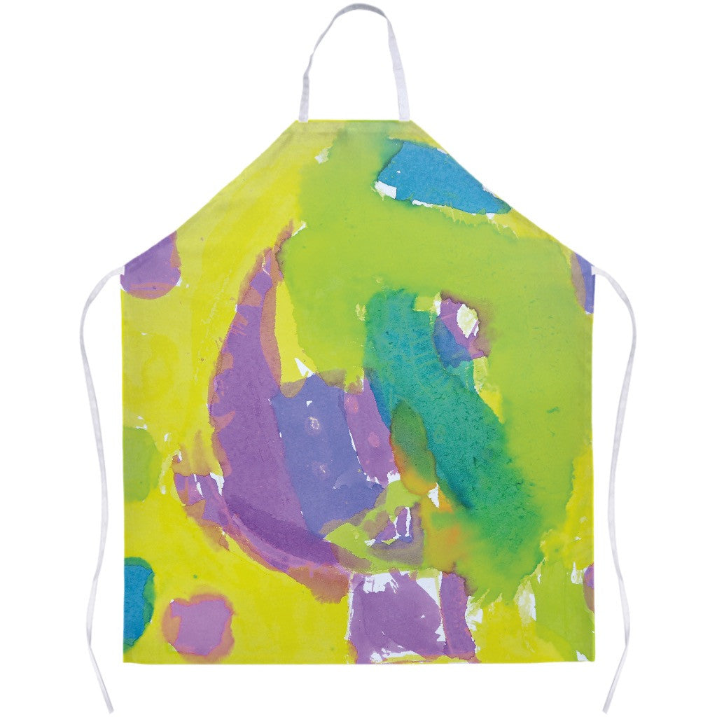 Yellow & Purple Abstract Apron