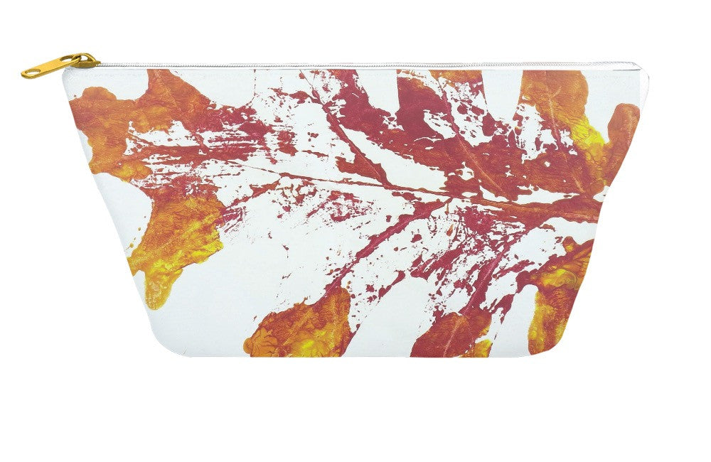 Leaf Print Accessory Pouch